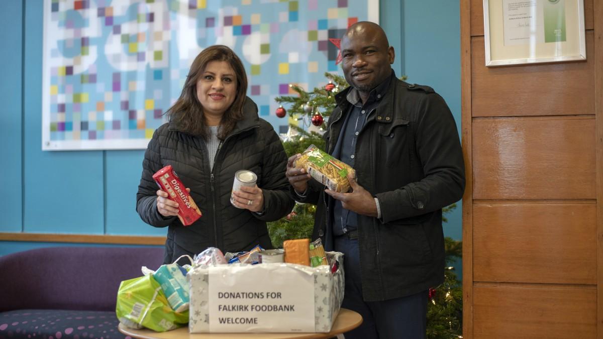 News Council Staff Show Generosity With Falkirk Foodbank