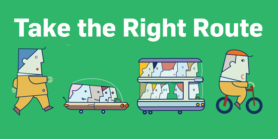 Take the Right Route logo