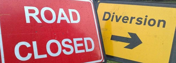 Image of Road Closure signs